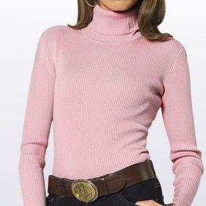 Ralph Loren rib knit turtle neck sweater m